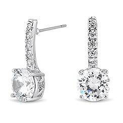 Jon Richard - Cubic zirconia round drop earring