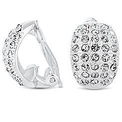 Jon Richard - Crystal embellished curved clip on earring