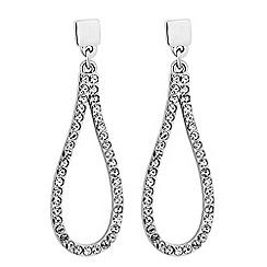Jon Richard - Crystal encased silver teardrop earring