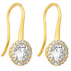 Jon Richard - Clara gold cubic zirconia sleek drop earring
