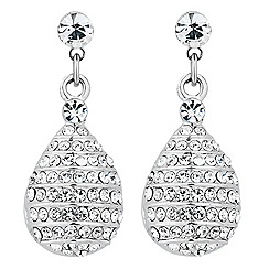 Jon Richard - Crystal embellished honey comb drop earring