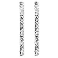 Jon Richard - Fine crystal linear drop earring