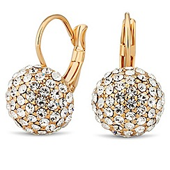 Jon Richard - Gold crystal ball drop earring