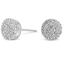 Jon Richard - Mini cubic zirconia embellished round stud earring