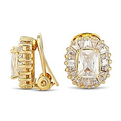 Jon Richard - Kate cubic zirconia clip on earring
