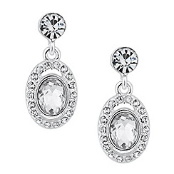 Jon Richard - Oval crystal surround drop earring