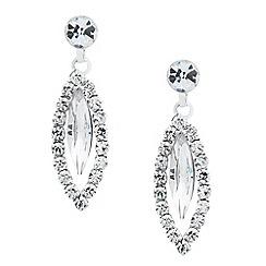 Jon Richard - Navette drop diamante surround earring
