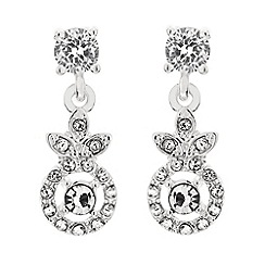 Alan Hannah Devoted - Designer cubic zirconia and crystal flower earring