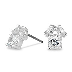 Alan Hannah Devoted - Designer cubic zirconia cluster stud earring