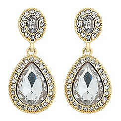 Jon Richard - Oval top gold peardrop surround earring