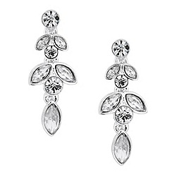 Jon Richard - Crystal navette link drop earring