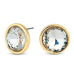 Jon Richard - Round crystal gold surround stud earring