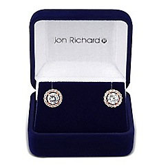 Jon Richard - Clara rose gold cubic zirconia round stud earring