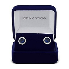 Jon Richard - Clara blue cubic zirconia round stud earring