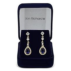 Jon Richard - Blue cubic zirconia pear droplet earring