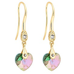 Jon Richard - Paradise shine crystal heart earring MADE WITH SWAROVSKI ELEMENTS