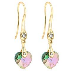 Jon Richard - Paradise shine crystal heart earring MADE WITH SWAROVSKI ELEMENTS