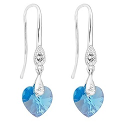 Jon Richard - Aquamarine crystal heart earring MADE WITH SWAROVSKI ELEMENTS