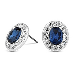 Jon Richard - Blue oval crystal surround stud earring