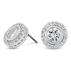 Alan Hannah Devoted - Designer Clara cubic zirconia surround stud earring