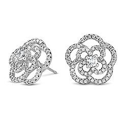 Jon Richard - Floral embellished cubic zirconia stud earring