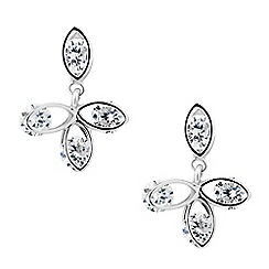 Jon Richard - Cubic zirconia petal drop earring
