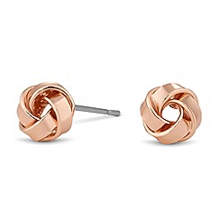 Jon Richard - Rose gold mini knot stud earring