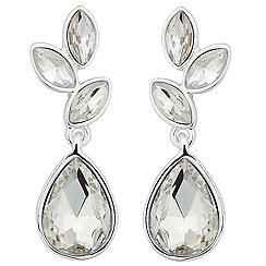 Jon Richard - Navette cluster silver teardrop earring