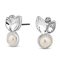 Alan Hannah Devoted - Designer navette cluster pearl stud earring