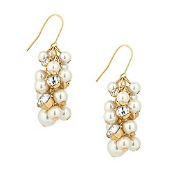 Jon Richard - Pearl and crystal shower drop earring