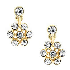 Jon Richard - Gold crystal cluster drop earring
