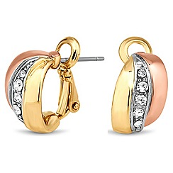 Jon Richard - Two tone crystal twist stud earring