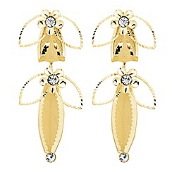 Jon Richard - Crystal and mesh gold flower earring