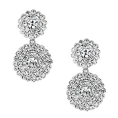 Jon Richard - Diamante embellished circular drop earring