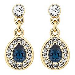 Jon Richard - Montana blue crystal peardrop earring MADE WITH SWAROVSKI ELEMENTS