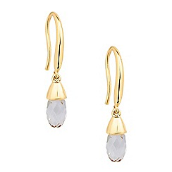 Jon Richard - Curved stick crystal drop earring MADE WITH SWAROVSKI ELEMENTS