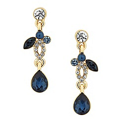 Jon Richard - Crystal navette blue peardrop earring