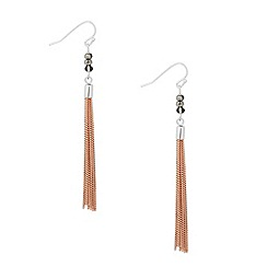 Jon Richard - Two tone crystal tassel drop earring