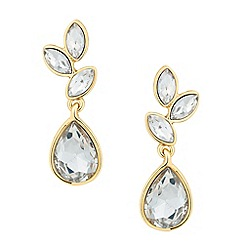 Jon Richard - Gold navette cluster drop earring