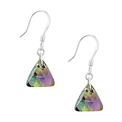 Jon Richard - Paradise shine crystal triangle earring MADE WITH SWAROVSKI ELEMENTS