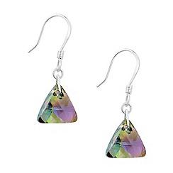 Jon Richard - Paradise shine crystal triangle earring MADE WITH SWAROVSKI ELEMENTS