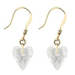 Jon Richard - Wild crystal heart drop earring MADE WITH SWAROVSKI ELEMENTS