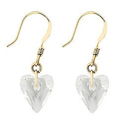 Jon Richard - Wild crystal heart drop earring MADE WITH SWAROVSKI ELEMENTS