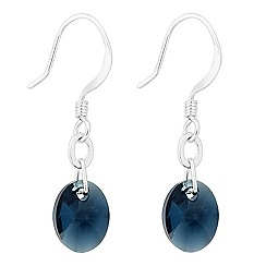 Jon Richard - Montana blue oval crystal drop earring MADE WITH SWAROVSKI ELEMENTS