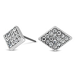 Jon Richard - Crystal embellished diamond shaped stud earring