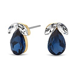Jon Richard - Crystal navette blue teardrop earring