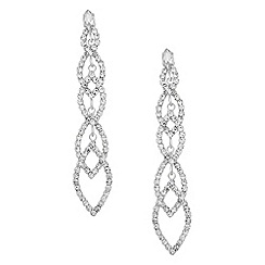 Jon Richard - Diamante crystal navette link drop earring