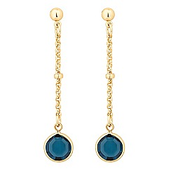 Jon Richard - Montana blue crystal long drop earring