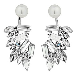 Jon Richard - Pearl and mixed crystal curve drop earring