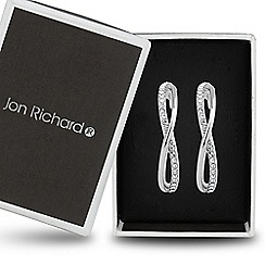Jon Richard - Crystal embellished twisted hoop earring